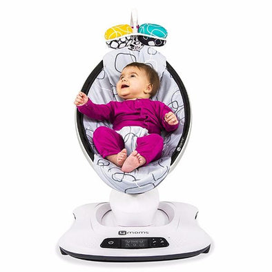 Sdraietta Elettrica Mamaroo 4.0 - Silver Plush | 4MOMS | RocketBaby.it