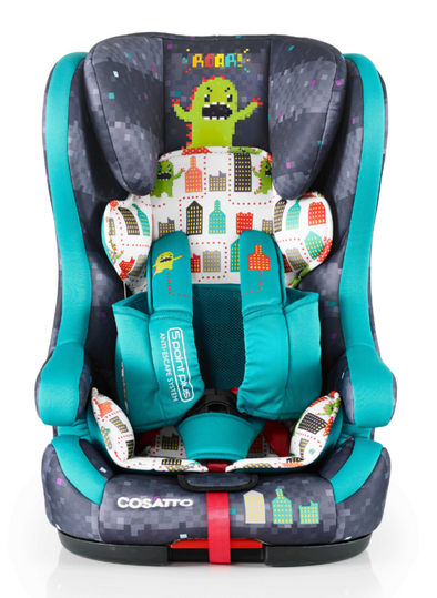 Seggiolino Auto Hubbub Gruppo 1/2/3 Isofix Anti-Escape Monster Arcade | COSATTO | RocketBaby.it