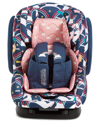 Seggiolino Auto Hug Gruppo 1/2/3 Isofix Anti-Escape Magic Unicorns | COSATTO | RocketBaby.it