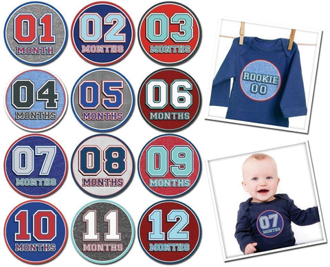 Set Stickers per Maglietta Sporty Boy 1-12 Mesi |  | RocketBaby.it