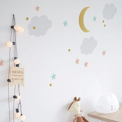 Set Stickers da Muro Cielo Stellato |  | RocketBaby.it