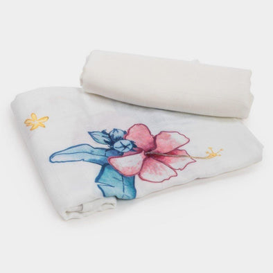 Set da 2 Swaddle in Bambù Square Tropical