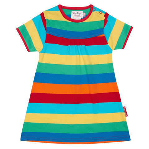 Vestito a Maniche Corte Multistripe | TOBY TIGER | RocketBaby.it
