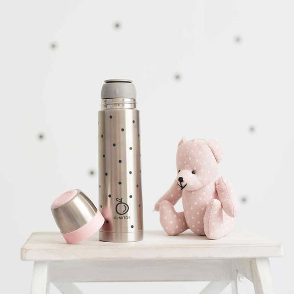 Bottiglia Thermos da 500ml Dots Pink