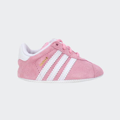 Adidas Soft Sole Gazelle Crib Rosa Bande Bianche | ADIDAS | RocketBaby.it