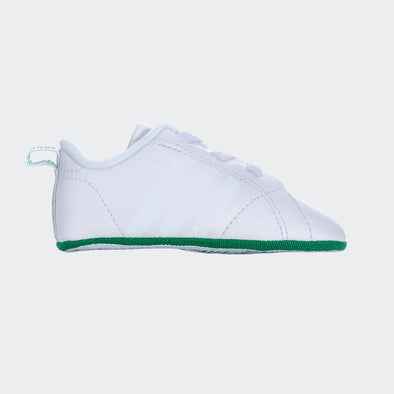 Adidas Soft Sole Vs Advanged Crib Bianche Riga Verde | ADIDAS | RocketBaby.it