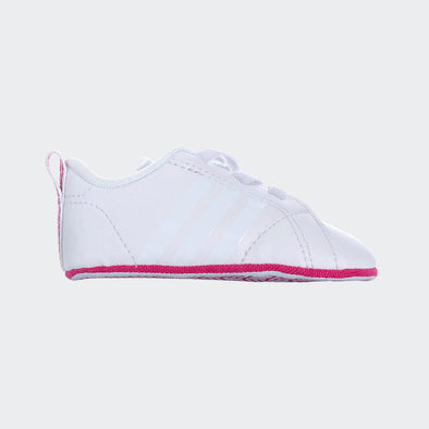 Adidas Soft Sole Vs Advanged Crib Bianche Riga Rosa | ADIDAS | RocketBaby.it
