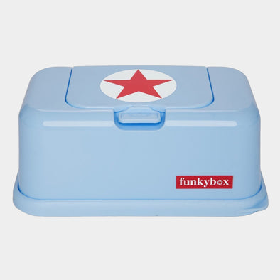 Box PortaSalviettine Umidificate Baby Blue Red Star