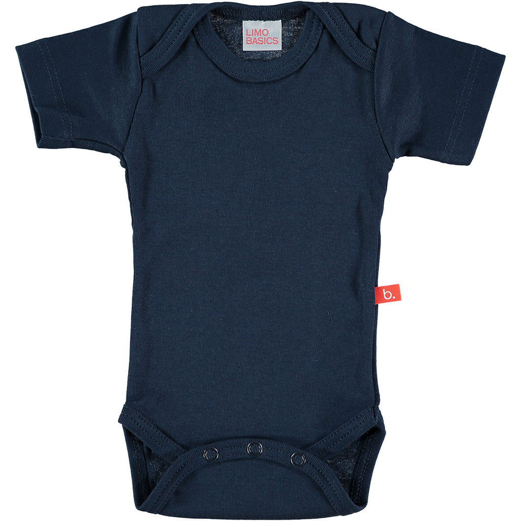 Body Manica Corta Scollo Tondo (Blu Navy) | LIMOBASICS | RocketBaby.it