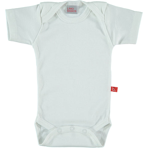 Body Manica Corta Scollo Tondo (Bianco) | LIMOBASICS | RocketBaby.it
