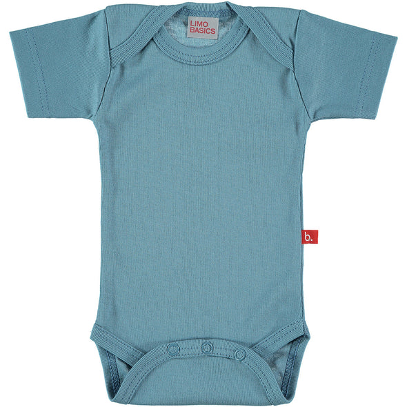 Body Manica Corta Scollo Tondo (Denim) |  | RocketBaby.it