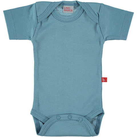 Body Manica Corta Scollo Tondo (Denim) - RocketBaby