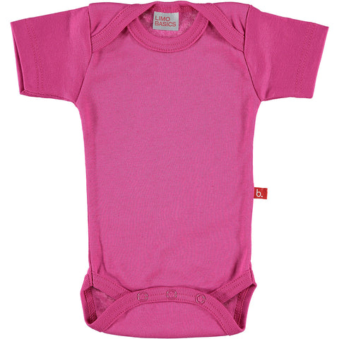 Body Manica Corta Scollo Tondo (Fucsia) | LIMOBASICS | RocketBaby.it