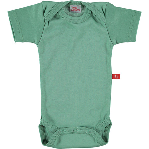 Body Manica Corta Scollo Tondo (Verde Muschio) | LIMOBASICS | RocketBaby.it