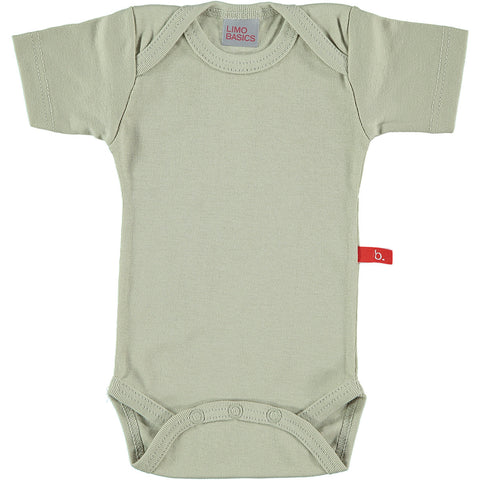 Body Manica Corta Scollo Tondo (Beige) | LIMOBASICS | RocketBaby.it
