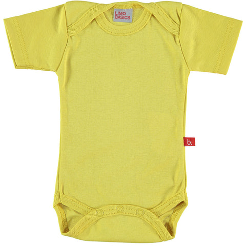 Body Manica Corta Scollo Tondo (Giallo) | LIMOBASICS | RocketBaby.it