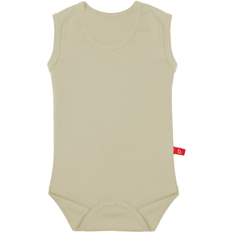 Body senza maniche beige 4-8 MESI | LIMOBASICS | RocketBaby.it