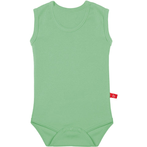 Body senza maniche verde muschio 4-8 MESI | LIMOBASICS | RocketBaby.it