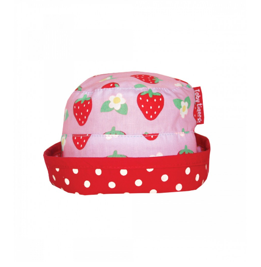 Cappellino per il Sole Reversibile con Fragole - TOBY TIGER - RocketBaby.it - RocketBaby