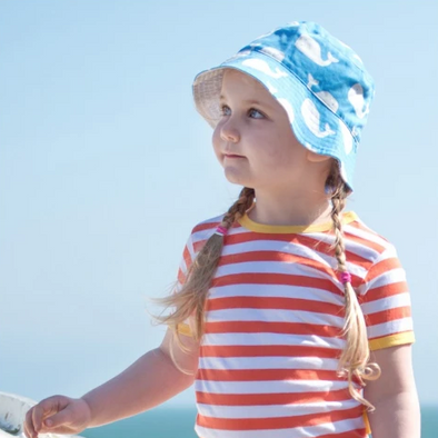 Cappellino per il Sole Reversibile con Balene |  | RocketBaby.it