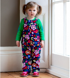 Salopette Fiori Multicolor | TOBY TIGER | RocketBaby.it