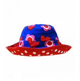 Cappellino per il Sole Reversibile con Cuoricini - TOBY TIGER - RocketBaby.it - RocketBaby