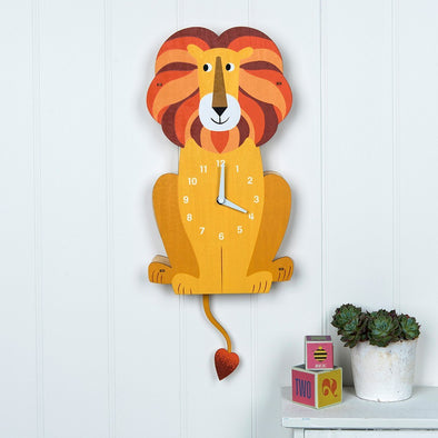 Orologio In Legno Charlie The Lion | REX LONDON | RocketBaby.it