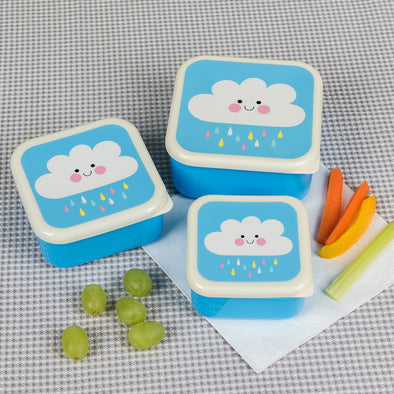 Set 3 Snack Box Happy Cloud | REX LONDON | RocketBaby.it