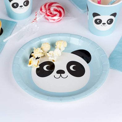 Set 8 Piatti In Carta Miko The Panda | REX LONDON | RocketBaby.it