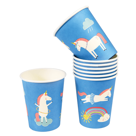 Set 8 Bicchieri In Carta Magical Unicorn | REX LONDON | RocketBaby.it