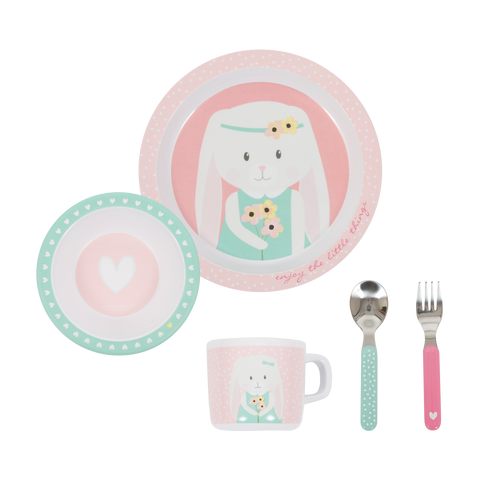 Set Pappa in Melamina Hearts | LITTLE DUTCH | RocketBaby.it