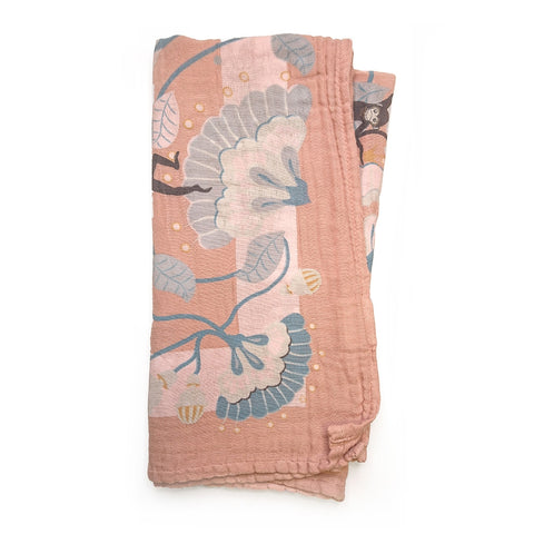Copertina SWADDLE Bamboo Faded Rose Bells | ELODIE DETAILS | RocketBaby.it