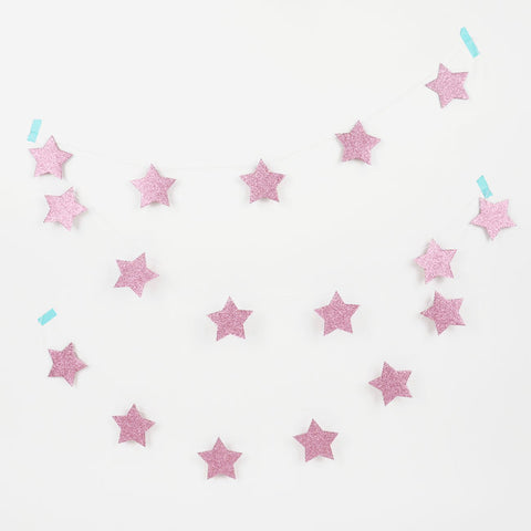 Striscione Glitter Star Pink | MY LITTLE DAY | RocketBaby.it