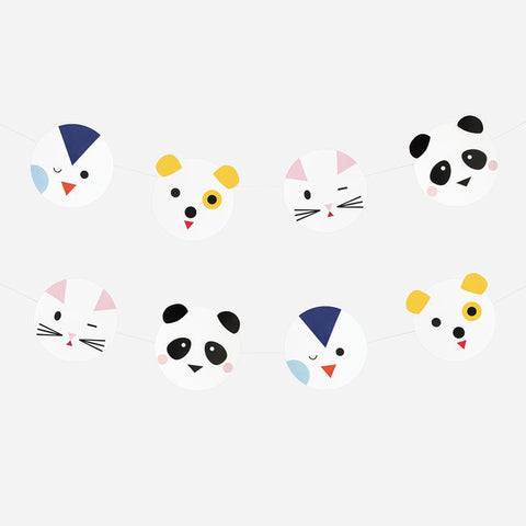 Striscione In Carta Mini Animals | MY LITTLE DAY | RocketBaby.it
