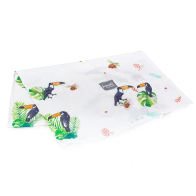 Swaddle in Bamboo Square 73 x 73 cm Toucan | POOFI | RocketBaby.it
