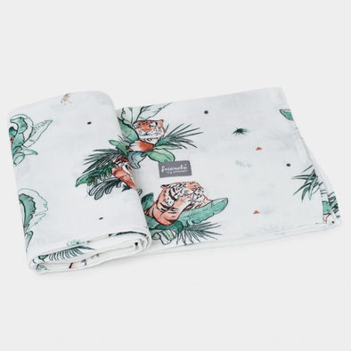 Swaddle in Bamboo Tigers