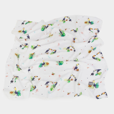 Swaddle in Bamboo 120 x 120 cm Toucan