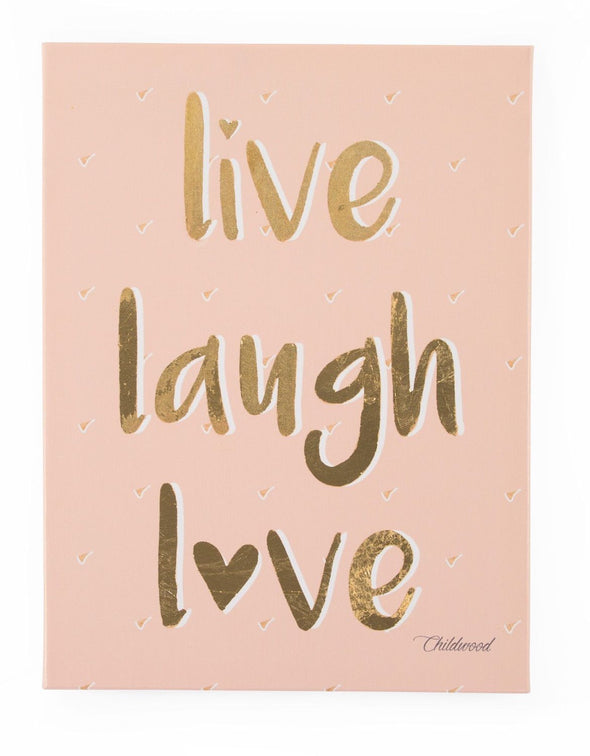 Dipinto ad Olio Live Laugh Love