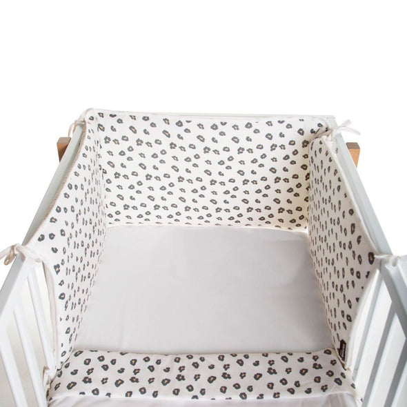 Paracolpi per Lettino in Jersey Leopard 35 x 170 cm
