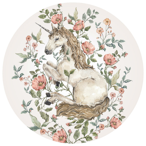 Sticker Tondo Unicorn in a Circle