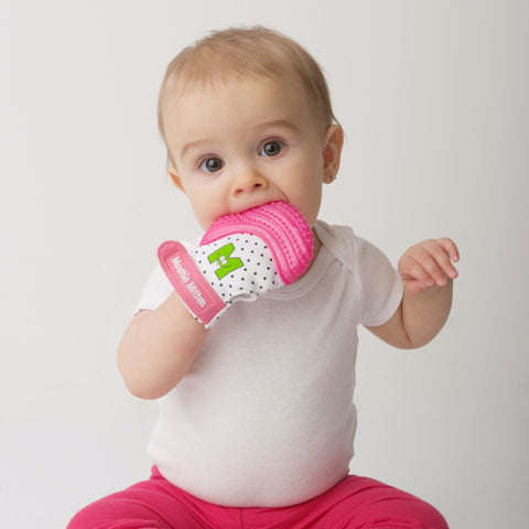 Guanto da Mordere Rosa | MOUTHIE MITTEN | RocketBaby.it