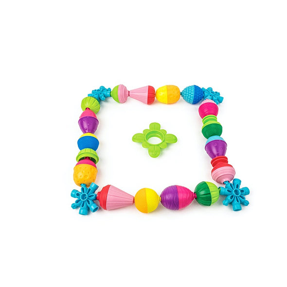 Set Educational Beads And Accessories 48 Pezzi