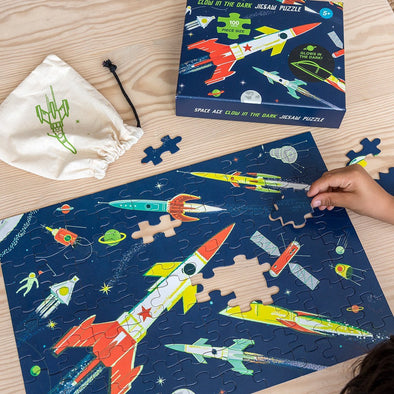 Puzzle Space Age Glow in the Dark 100 Pezzi