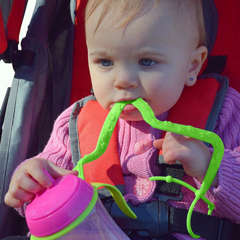 Cordino Paracadute 2 in 1 Verde | CUP CATCHER | RocketBaby.it