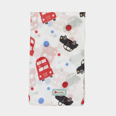 Swaddle in Mussola London Bus