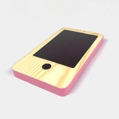 RocketPhone Cellulare in Legno Rosa