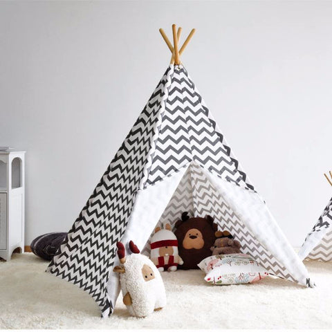 Tenda Tipi ZigZag Grigia e Bianca | CHILDHOME | RocketBaby.it