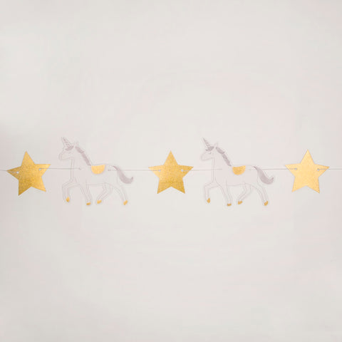 Ghirlanda Decorativa in Carta Princess Unicorn | SASS & BELLE | RocketBaby.it