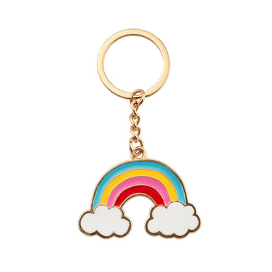 Portachiavi in Metallo Rainbow With Clouds | SASS & BELLE | RocketBaby.it