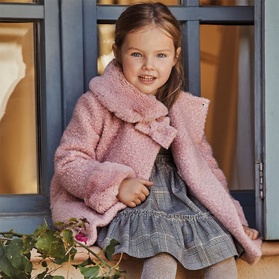 Cappotto Teddy Rosa